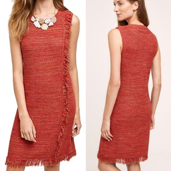 be363c7544e Anthropologie Dresses   Skirts - Anthropologie Fringed Sweater Dress